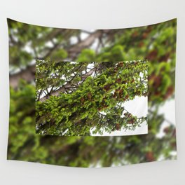 Large spruce fresh shoots Wall Tapestry