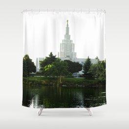 Idaho Falls Temple - Early Morning Shower Curtain