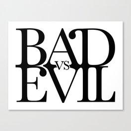 BADvsEVIL Music Canvas Print