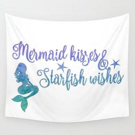 Mermaid Kisses Starfish Wishes Wall Tapestry