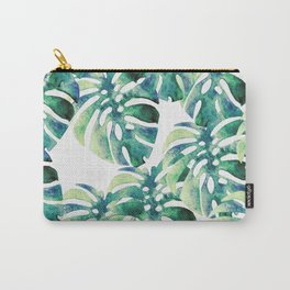 Monstera Pattern Green Carry-All Pouch