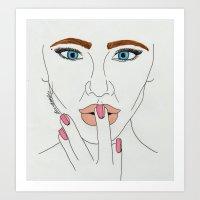 Art Print featuring Original Chick by BethanieWarrenArt