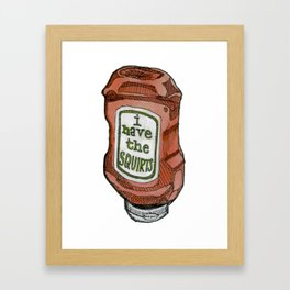 the squirts Framed Art Print