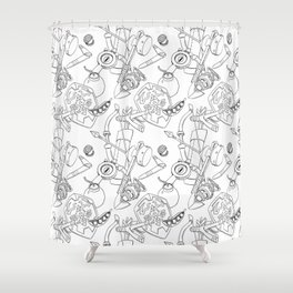 Ocarina Patterns Shower Curtain