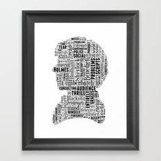 Sherlock BBC Benedict Cumberbatch Typography Silhouette Framed Art Print