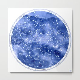 Northern Stars Metal Print