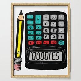 Rude Calculator Serving Tray