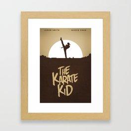 KARATE KID - Minimal Poster Design Framed Art Print
