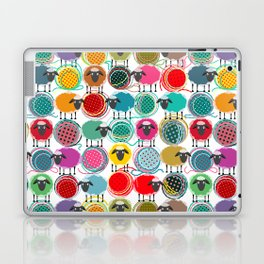 Bright Sheep and Yarn Pattern Laptop & iPad Skin