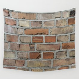 Vintage red brick wall texture Wall Tapestry