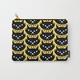 Mid Century Modern Cat Black Yellow Carry-All Pouch