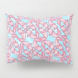 Kawaii Axolotl Pastel Chido Pink Pillow Sham