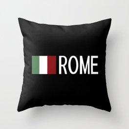 Italy: Italian Flag & Rome Throw Pillow