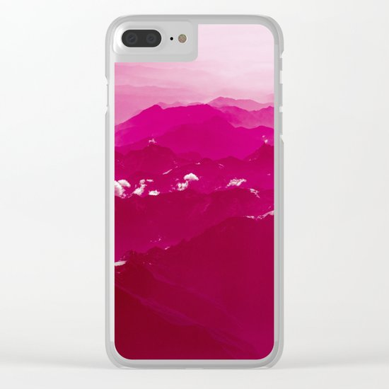 Abstract mountains Clear iPhone Case