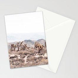Joshua Tree // Vintage Desert Landscape Cactus Southwest Mountains Stationery Cards