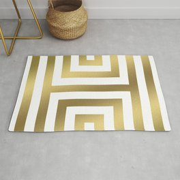 Gold Greek Stripes Rug