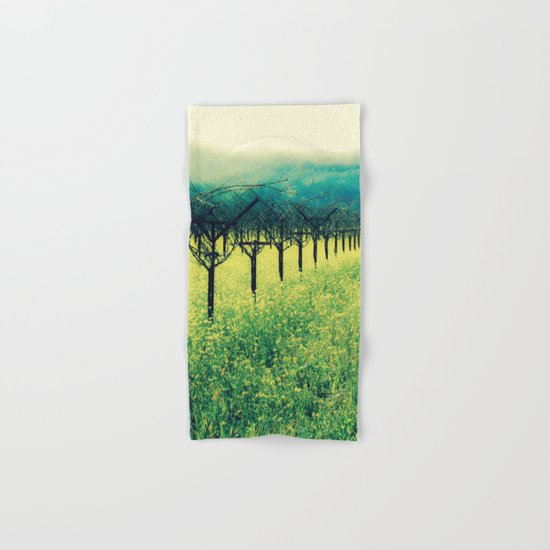 Winter Vineyard I - Serenity Hand & Bath Towel