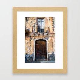 Sicilian facade of Taormina Framed Art Print