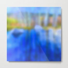 Reflections in blue and gold Metal Print