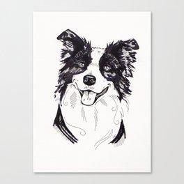 Collie Sketch Canvas Print