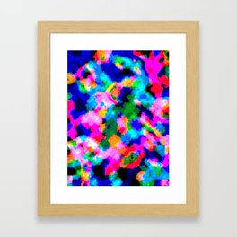 Cloudy Glitch Pattern Framed Art Print