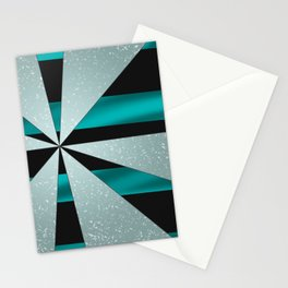 4Shades Glass: Blue Black Stationery Cards