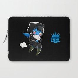 Fuzzy Chibi Luc (Expression 2) w/ Black Background Laptop Sleeve