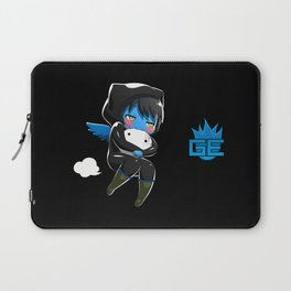 Fuzzy Chibi Luc (Expression 2) w/ Black Background Laptop Sleeve
