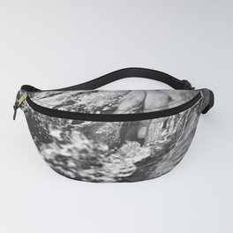 Running hand through the water, under the blue again black and white photograph / art photography Fanny Pack