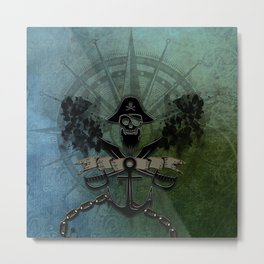Pirate design, a pirate's life for me Metal Print