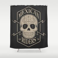 mexican Shower Curtains featuring mexican riders by Taranta Babu