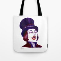 willy wonka Tote Bags featuring Wonka by Indigo East by ieIndigoEast