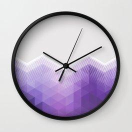 ULTRA VIOLET TRIANGLE CHEVRON DESIGN Wall Clock