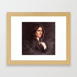 Steampunk-Lady Framed Art Print