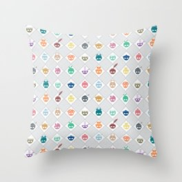 The Nik-Nak Bros. Multee Kolour Throw Pillow