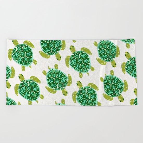 Sea Turtle – Green Palette Beach Towel