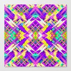 Colorful digital art splashing G482 Canvas Print