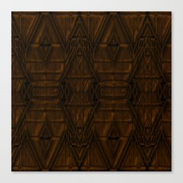 Coppery African Pyramid Canvas Print