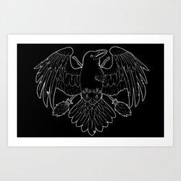 Raven Familiar Art Print