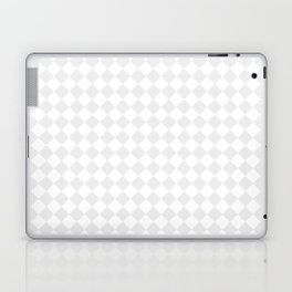 Small Diamonds - White and Pale Gray Laptop & iPad Skin