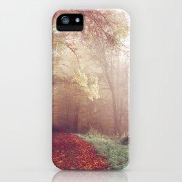 Misty Autumn Day iPhone Case