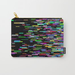 Rainbow bars zooming across black space horizon Carry-All Pouch