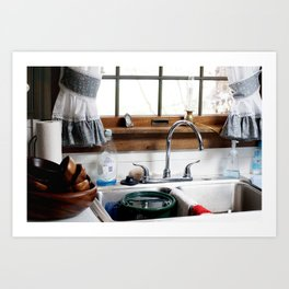 grandmas kitchen sink  Art Print