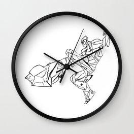 Maximum Steel Wall Clock