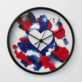 Willa Patriotic Heart Wall Clock