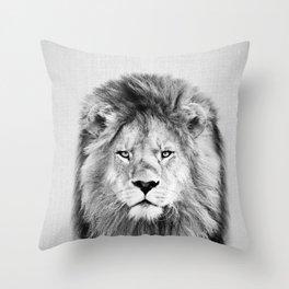 Lion 2 - Black & White Throw Pillow
