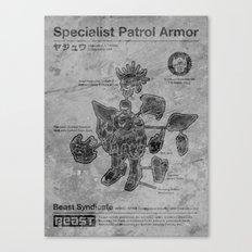 Specialist Patrol Armor (Stone) Canvas Print