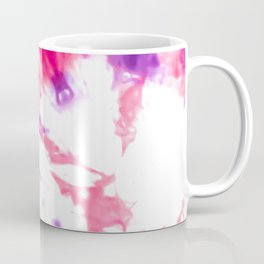 Modern Artsy Abstract Neon Pink Purple Tie Dye Coffee Mug