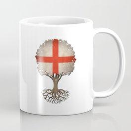 Vintage Tree of Life with Flag of England Coffee Mug