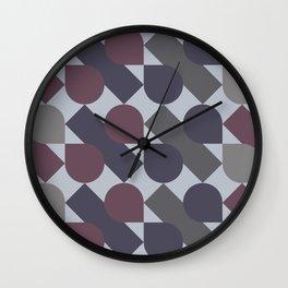 Diagonal Drops in Plum Wall Clock
